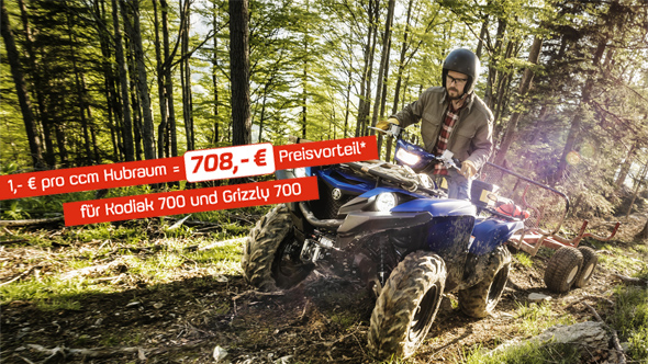 Yamaha ATV Preisaktion